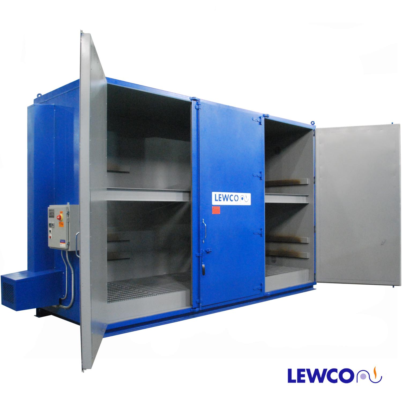 Drum Hot Box, Model: EC24V (doors open) – Lewco Ovens
